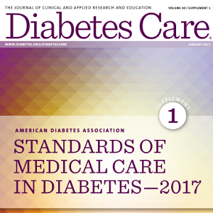 Guías ADA: STANDARDS OF MEDICAL CARE IN DIABETES 2017