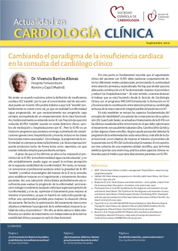Actualidad en cardiología clínica - Septiembre 2019