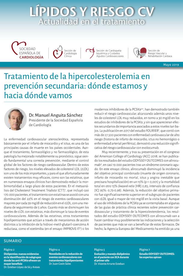 Lípidos y riesgo CV - Actualidad en el tratamiento - Mayo 2019